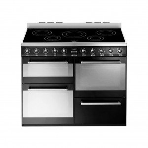 Smeg Symphony 110 Induction Black Range Cooker