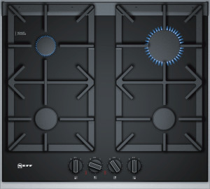 Neff N90 60cm Black Ceramic Glass Gas Hob T26TA49N0