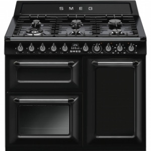 Smeg Victoria 100 Black Dual Fuel Range Cooker TR103BL