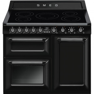 Smeg Victoria 100 Black Induction Range Cooker TR103IBL