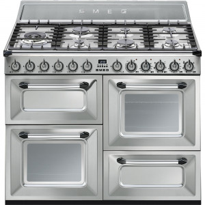 Smeg Victoria 110 Stainless Steel Dual Fuel Range Cooker