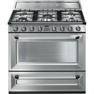 Smeg 90cm Victoria Single Cavity Stainless Steel Dual Fuel Cooker TR90X9