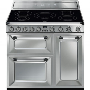 Smeg Victoria 90 Stainless Steel Induction Range Cooker TR93IX