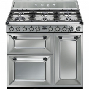 Smeg Victoria 90 Stainless Steel Dual Fuel Range Cooker