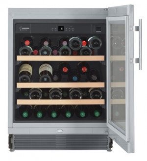 Liebherr UWKes 1752 GrandCru 110 Litre A Rated Silver Wine Cooler