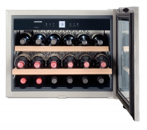 Liebherr WKEes 553 GrandCru 46 Litre A Rated Silver Wine Cooler