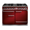 Falcon 1092 Deluxe Dual Fuel Cherry Red/Nickel Range Cooker