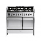 Smeg Opera 100 Dual Fuel Pyrolytic Stainless Steel Range Cooker