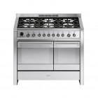 Smeg Opera 100 Dual Fuel Pyrolytic Stainless Steel Range Cooker