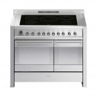 Smeg Opera 100 Induction Pyrolytic Stainless Steel Range Cooker