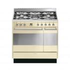 Smeg Concert 90 Cream Dual Fuel Range Cooker
