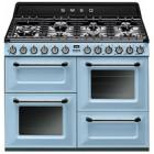 Smeg Victoria 110 Pastel Blue Dual Fuel Range Cooker
